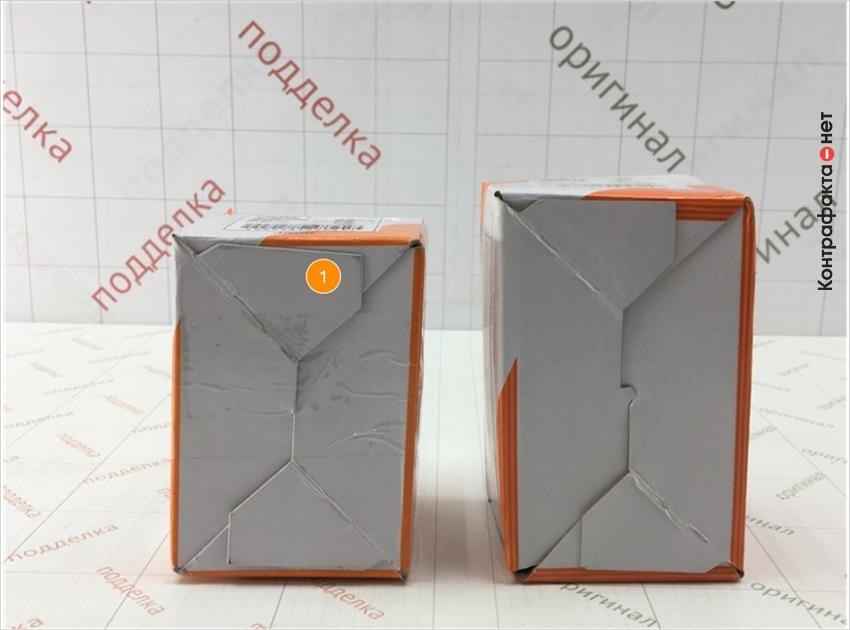 1. Отличается размер упаковки.