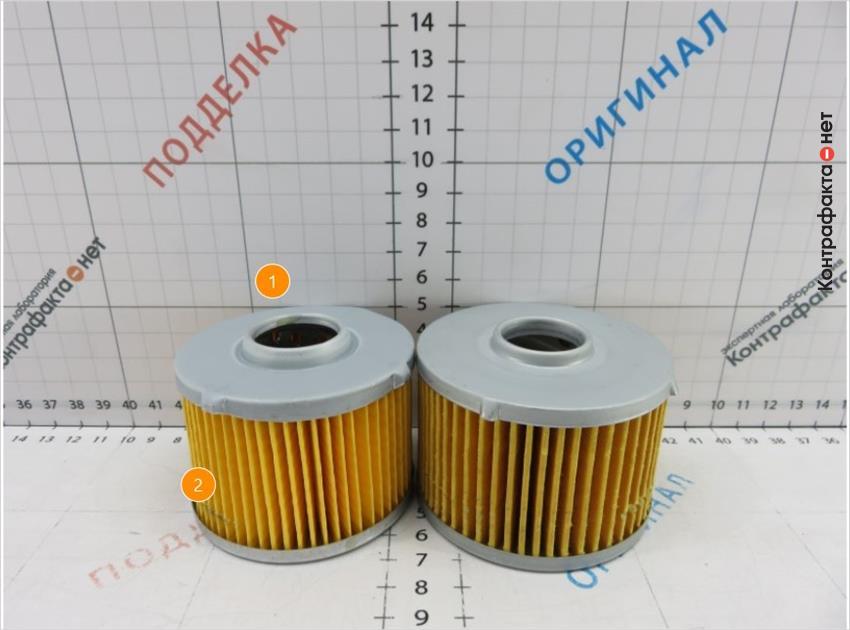 1. Отличаются габариты фильтров. <br> 2. Материал и плотность сот фильтрующего элемента не соответствует оригиналу.